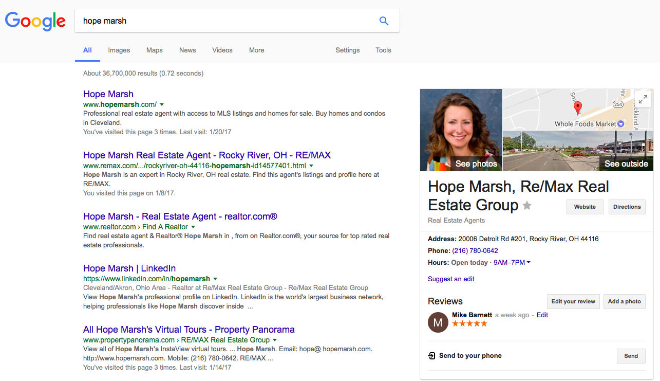 Hope Marsh search